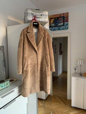 René Lezard Wool Coat beige alpaca wool