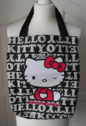 orig. Sanrio Hello Kitty Canvas Tasche Schwarz Beige Rot NEU