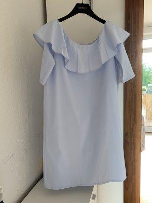 Orig SET Off Shoulder Kleid Minikleid hellblau wNeu 199€ 36/38 S Baumwolle