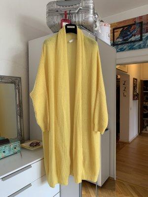 (The Mercer) NY Manteau en tricot jaune cachemire