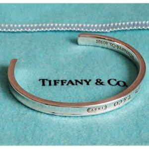 ORIG TIFFANY & CO 1837 OPEN ARMREIF BANGLE 925 SILBER / GUTER ZUSTAND