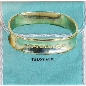ORIG. TIFFANY & CO 1837 SQUARE ARMREIF BANGLE NEUES MODELL 925 SILBER / SEHR GUTER ZUSTAND