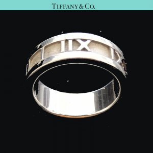 ORIG. TIFFANY & Co. ATLAS RING 925 Sterling Silber EU51 US5,7 / GUTER ZUSTAND