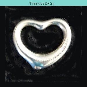 ORIG TIFFANY & Co. PERETTI OPEN HEART HERZ-ANHÄNGER MEDIUM CHARM Silber NP 170