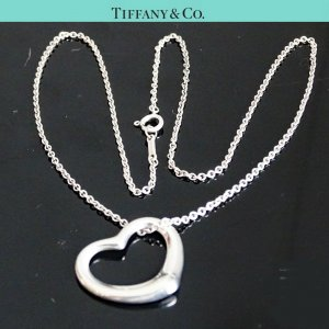 ORIG. TIFFANY & Co. PERETTI OPEN HEART KETTE m. HERZ-ANHÄNGER LARGE 925 Silber