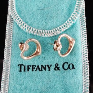 Tiffany&Co Ear stud silver-colored real silver
