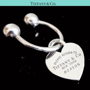 ORIG. TIFFANY & Co. Return to Tiffany Schlüssel-Ring HERZ-Anhänger 925 Silber / GUTER ZUSTAND