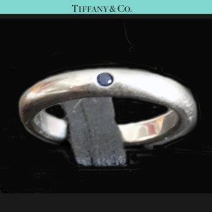 ORIG TIFFANY & Co. SAPHIR RING FREUNDSCHAFTSRING 925 SILBER EU46 US3.7 / GUTER ZUSTAND