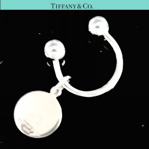 ORIG. TIFFANY & Co. T.O Gravur SCHLÜSSEL-RING SCHLÜSSEL-ANHÄNGER RUND 925