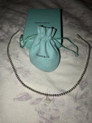 Tiffany&Co Collar estilo collier azul bebé-gris claro plata verdadero