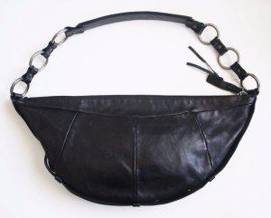 Orig. Tom Ford for YSL Yves Saint Laurent Halbmond Ledertasche Handtasche Tasche Beutel Beuteltasche