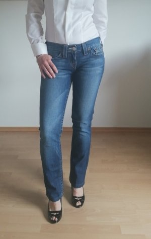 Orig True Religion Jeans 26 XS blau used wash wie neu
