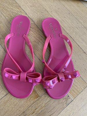 Orig VALENTINO GARAVANI Slides Flip Flops Pantoletten Sandalen pink Rockstud 36 NP240€