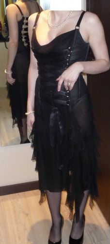 Orig VERSACE Seidenkleid Corsagenkleid Abendkleid RunwayCouture S 36 transparent