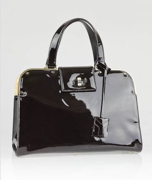Orig. YSL Yves Saint Laurent Uptown Bag Lackleder Luxus Leder Tasche Handtasche 2200$