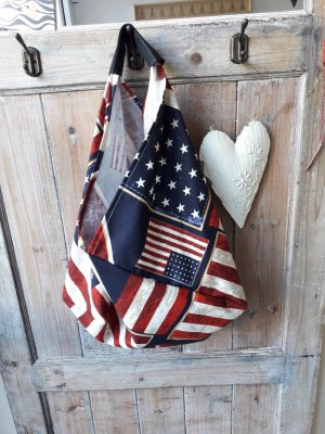 Origami bag * Flag USA * Stars and stripes vegan