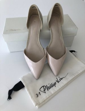3.1 Phillip Lim Ballerina's met kant rosé-licht beige Leer
