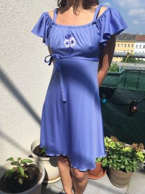 original 60's Sommerkleid mit Blumenstickerei in Größe 36