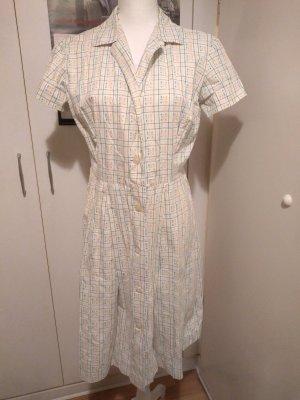 Sukienka z halką biały-niebieski