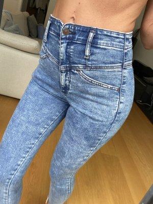 Abercrombie & Fitch Jeans 7/8 bleu foncé