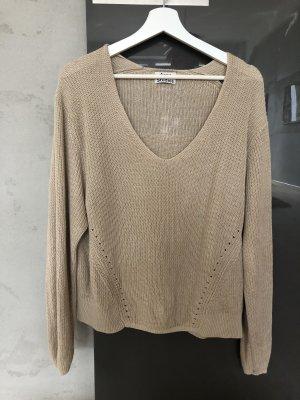 Acne Studios Szydełkowany sweter beżowy-kremowy