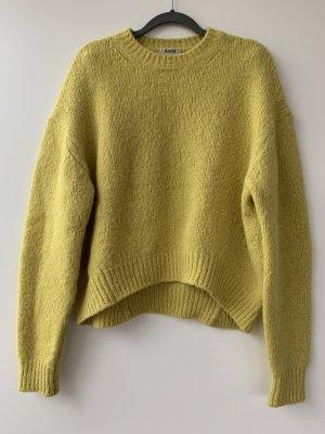 Acne Studios Sweter z dzianiny limonkowy żółty-żółty neonowy