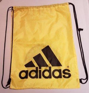 Original ADIDAS Sportbeutel GYMSACK Gelb Turnbeutel Sporttasche Fitnessbeutel Sommerfarben
