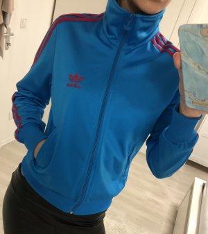 Adidas Veste de sport bleu fluo-magenta