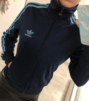 Adidas Veste de sport bleu foncé-turquoise