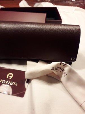 Aigner Glasses bordeaux imitation leather