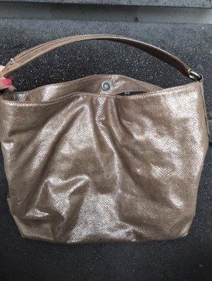 Original Aigner Handtasche Shopper Kroko beige