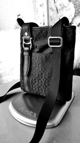 Original Aigner Tasche schwarz Logo crossover bag neuwertig