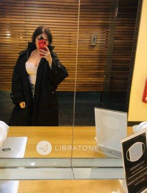 Alexander McQueen Manteau oversized noir