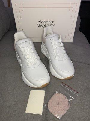 Alexander McQueen Platform Trainers white-pink