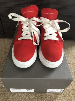 Alexander McQueen Lace-Up Sneaker red-white
