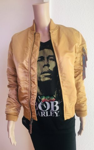 Alpha Industries Bomber Jacket gold-colored