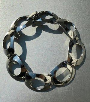 Vintage Brazalete de plata color plata