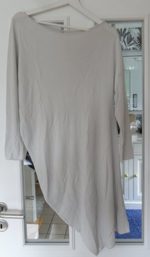 Annette Görtz Kraagloze sweater lichtgrijs Viscose