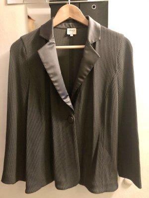 Armani Collezioni Blazer en maille tricotée gris foncé