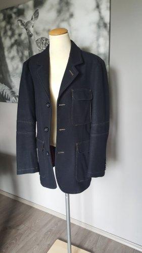 Armani Jeans Veste mi-saison bleu foncé-rouge foncé laine vierge