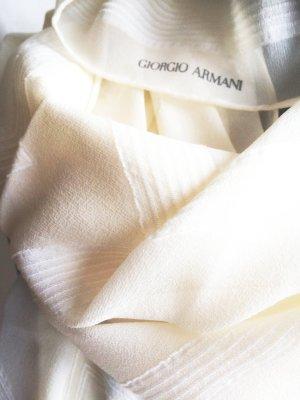 Armani Jedwabny szal w kolorze białej wełny-kremowy Jedwab