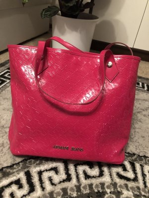 Original Armani Tasche Shopper in fuxia Lack