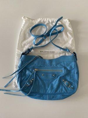 Balenciaga Draagtas korenblauw Leer