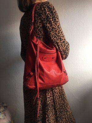 Balenciaga Sac à main rouge cuir