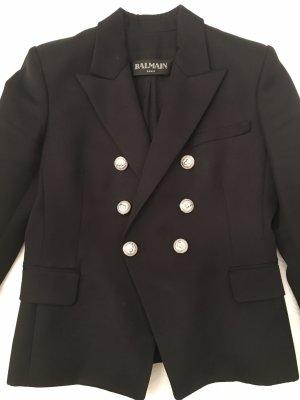 Balmain Blazer in lana nero-argento