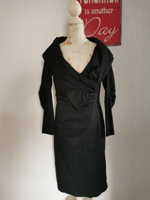 Original Barbara Schwarzer Designer Abendkleid schwarz Größe 40