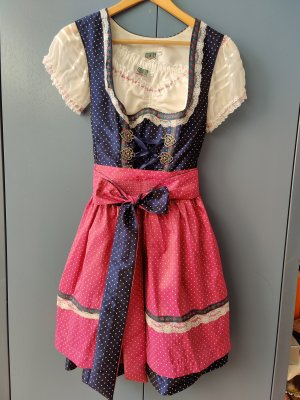 Country Line Dirndl raspberry-red-blue