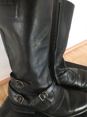 Belstaff Bottes à l'écuyère noir cuir