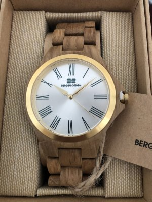Analog Watch multicolored wood