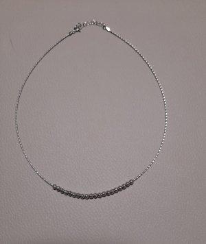 Original Bianca platinierte Silberkette aus Italien